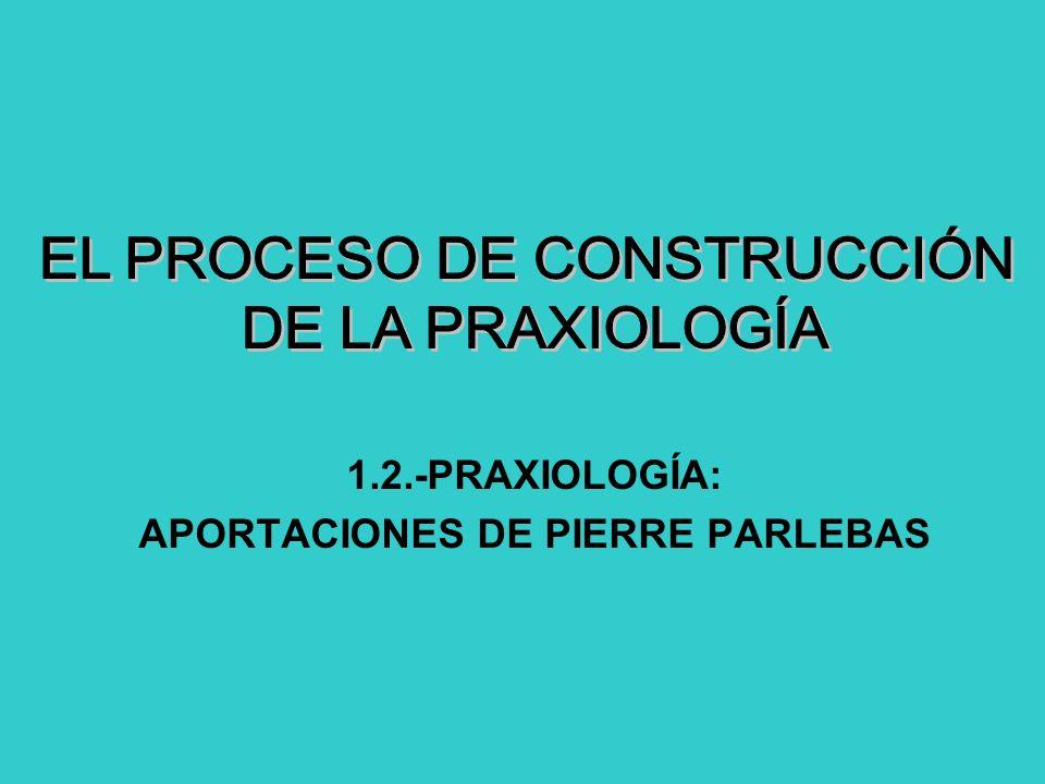 1.2.-PRAXIOLOGÍA: APORTACIONES DE PIERRE PARLEBAS