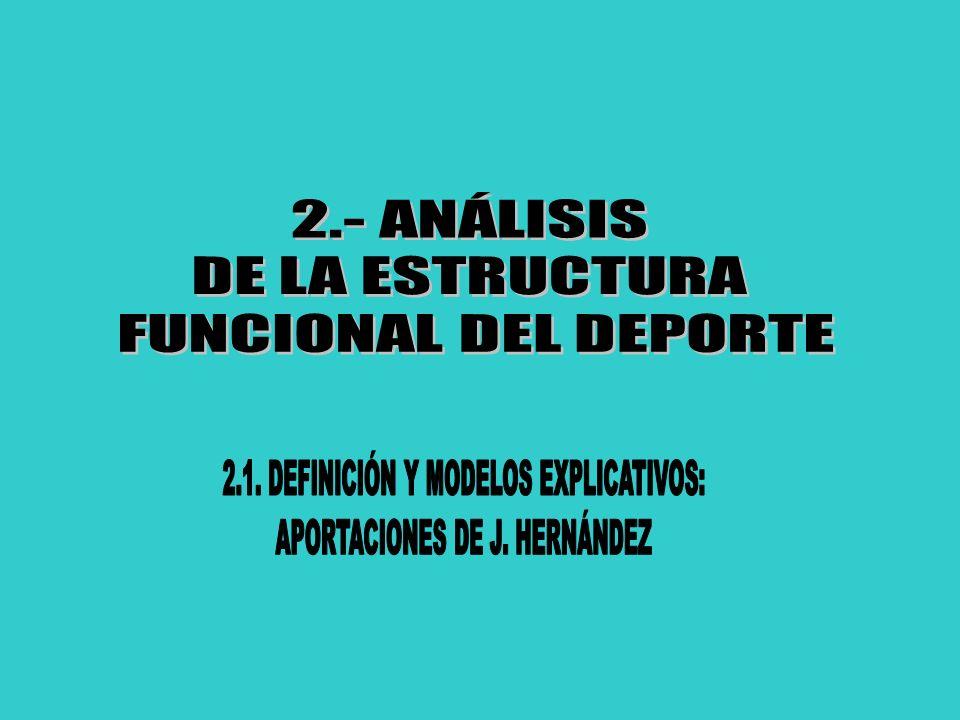 2.- ANÁLISIS DE LA ESTRUCTURA FUNCIONAL DEL DEPORTE