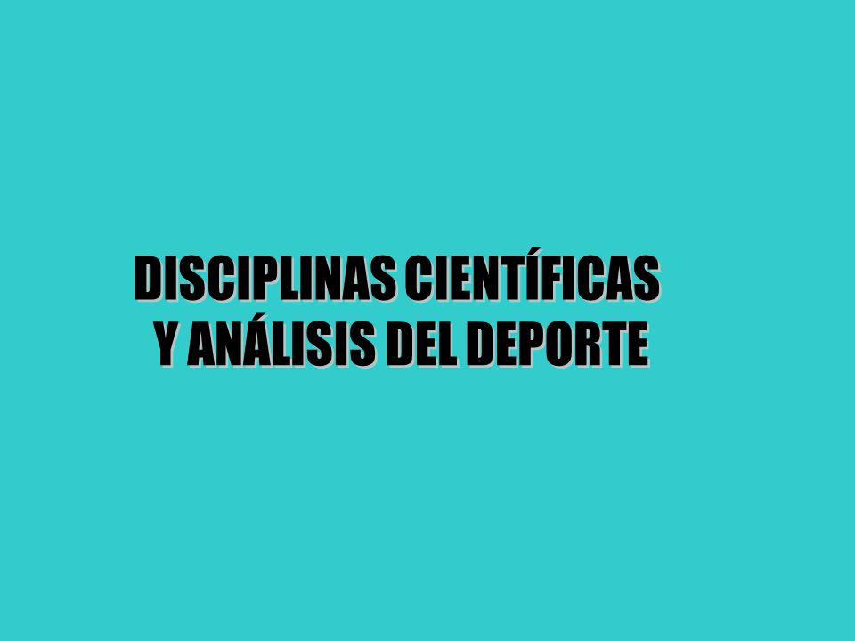 DISCIPLINAS CIENTÍFICAS