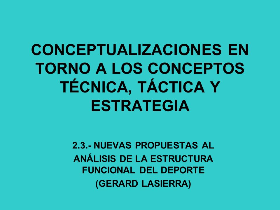 ANÁLISIS DE LA ESTRUCTURA FUNCIONAL DEL DEPORTE