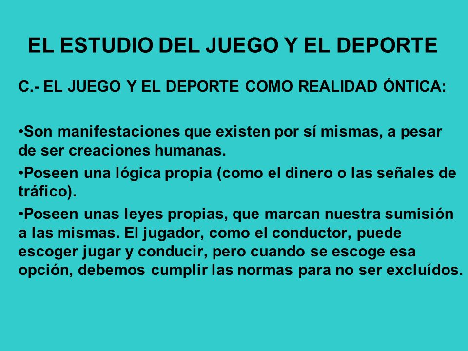 EL ESTUDIO DEL JUEGO Y EL DEPORTE