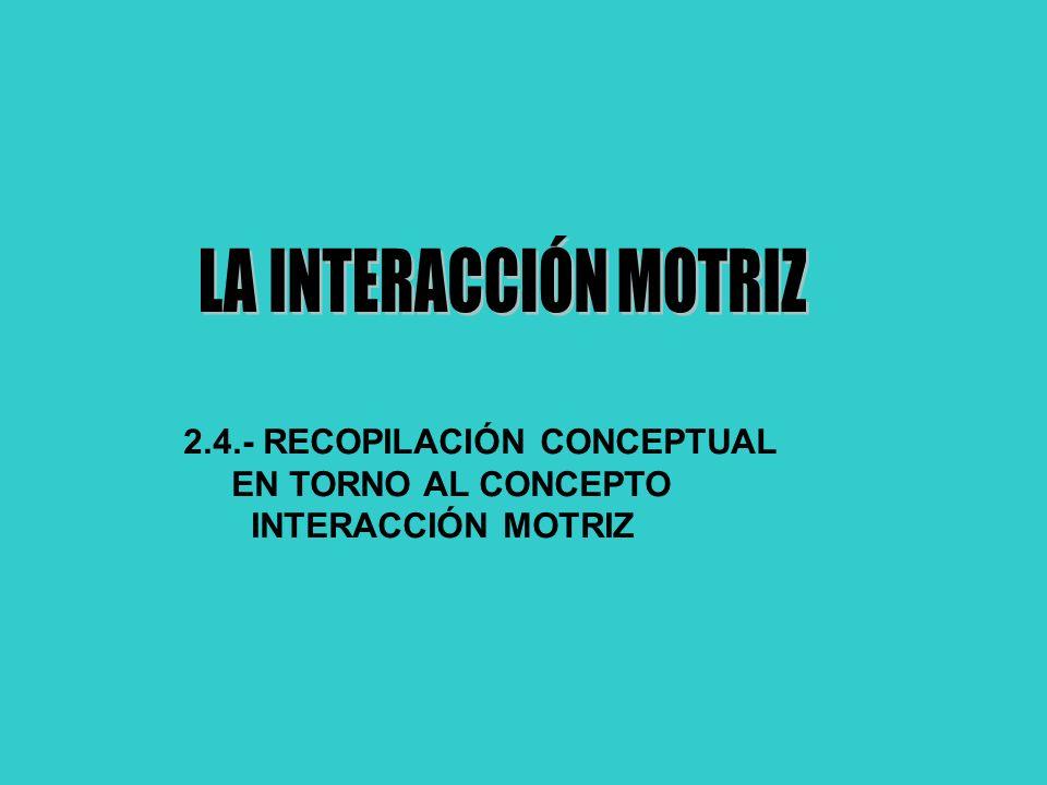 LA INTERACCIÓN MOTRIZ 2.4.- RECOPILACIÓN CONCEPTUAL