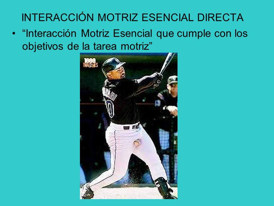 INTERACCIÓN MOTRIZ ESENCIAL DIRECTA