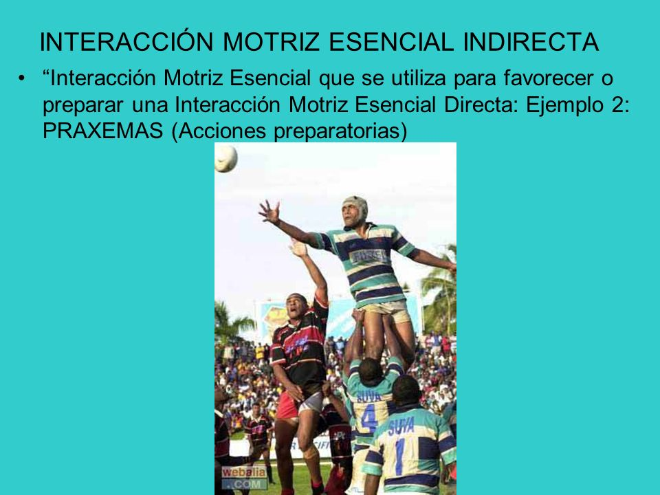 INTERACCIÓN MOTRIZ ESENCIAL INDIRECTA