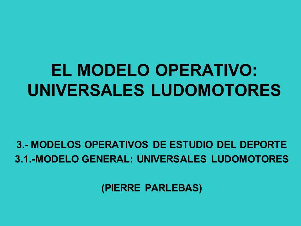 EL MODELO OPERATIVO: UNIVERSALES LUDOMOTORES