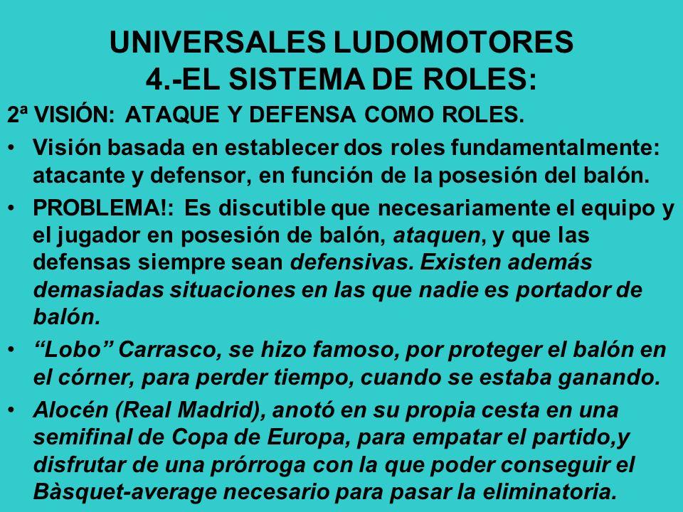 UNIVERSALES LUDOMOTORES 4.-EL SISTEMA DE ROLES: