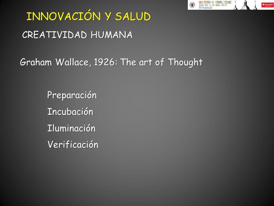 INNOVACIÓN Y SALUD CREATIVIDAD HUMANA