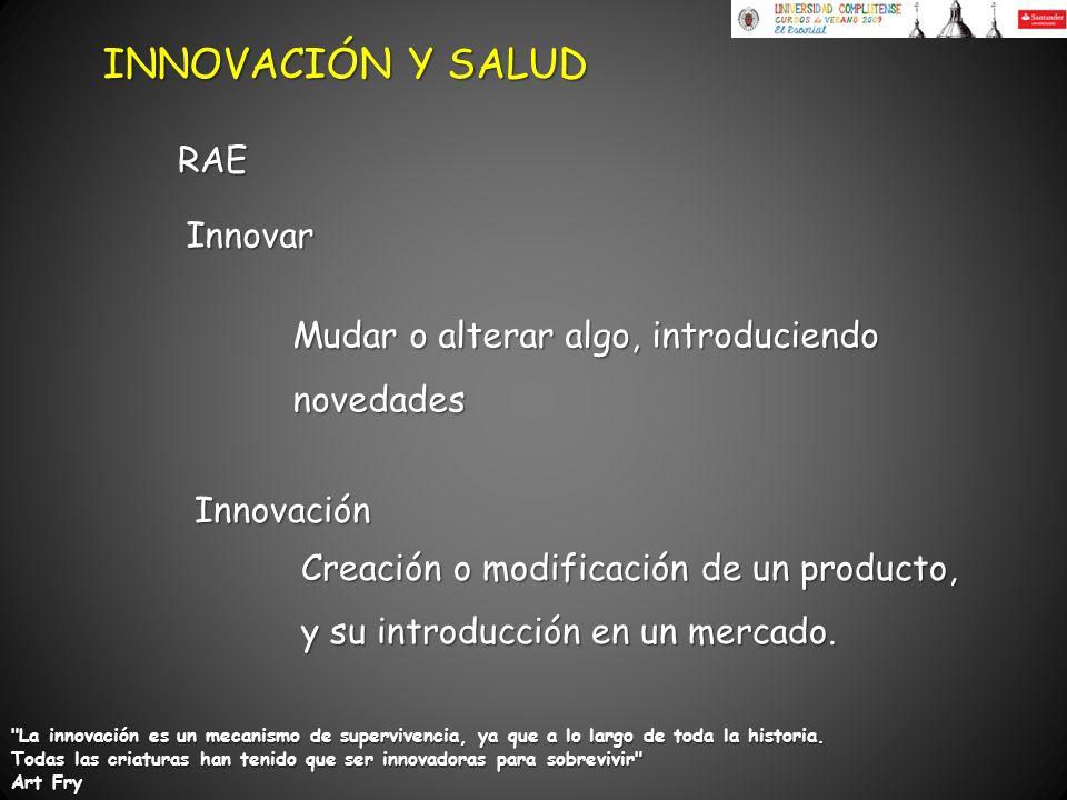 INNOVACIÓN Y SALUD RAE Innovar