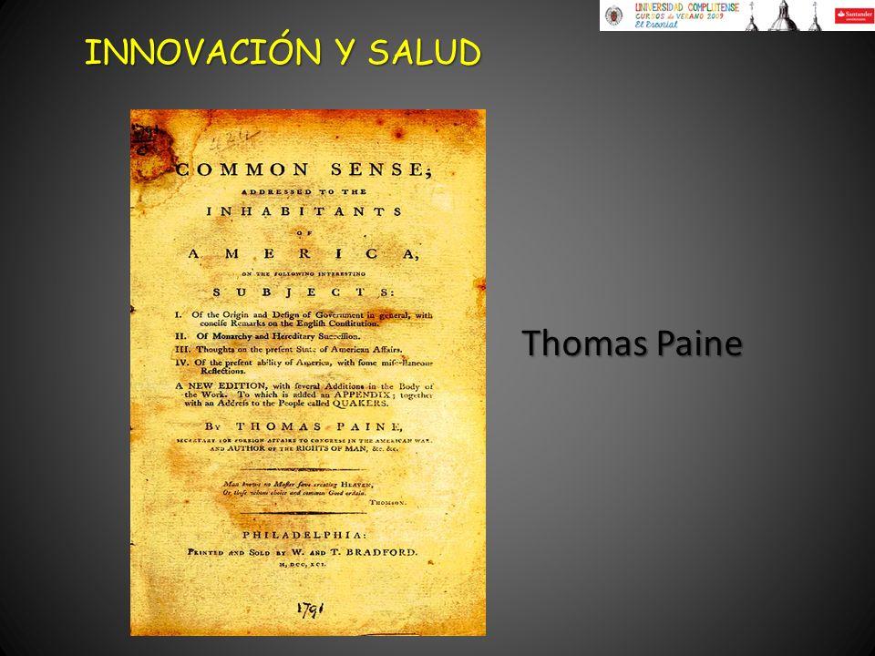 INNOVACIÓN Y SALUD Thomas Paine