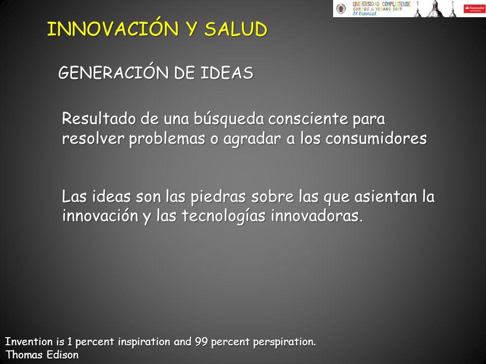 INNOVACIÓN Y SALUD GENERACIÓN DE IDEAS