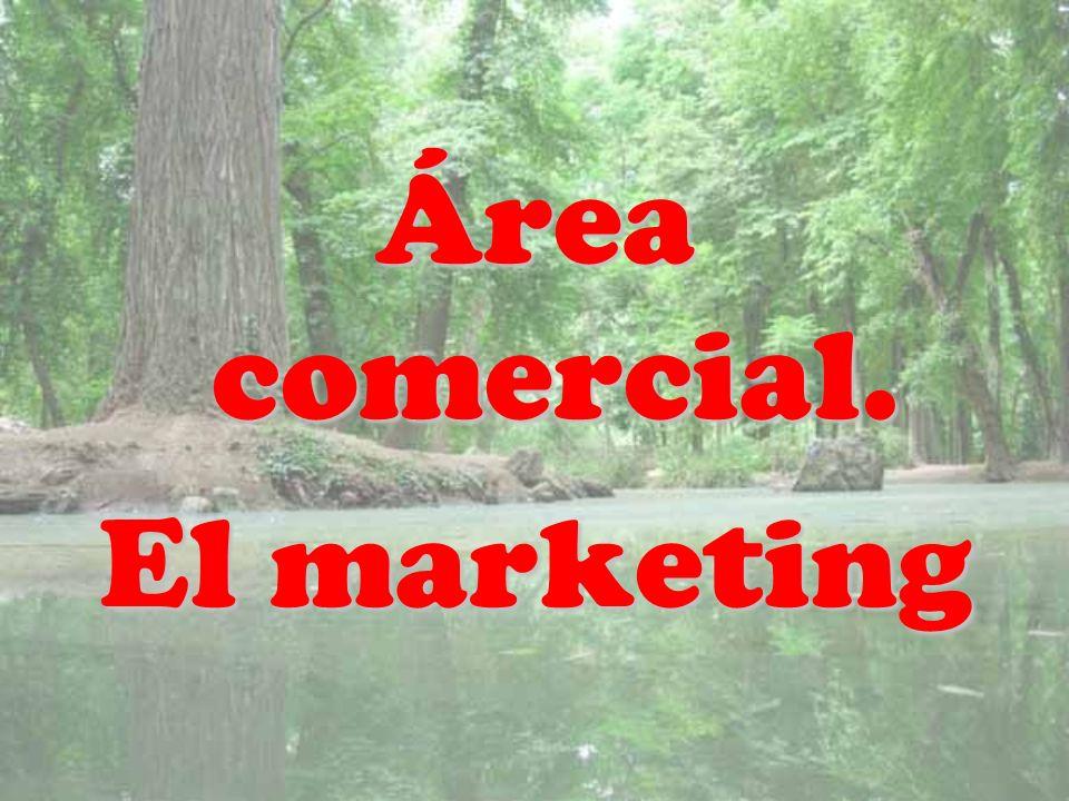 Área comercial. El marketing