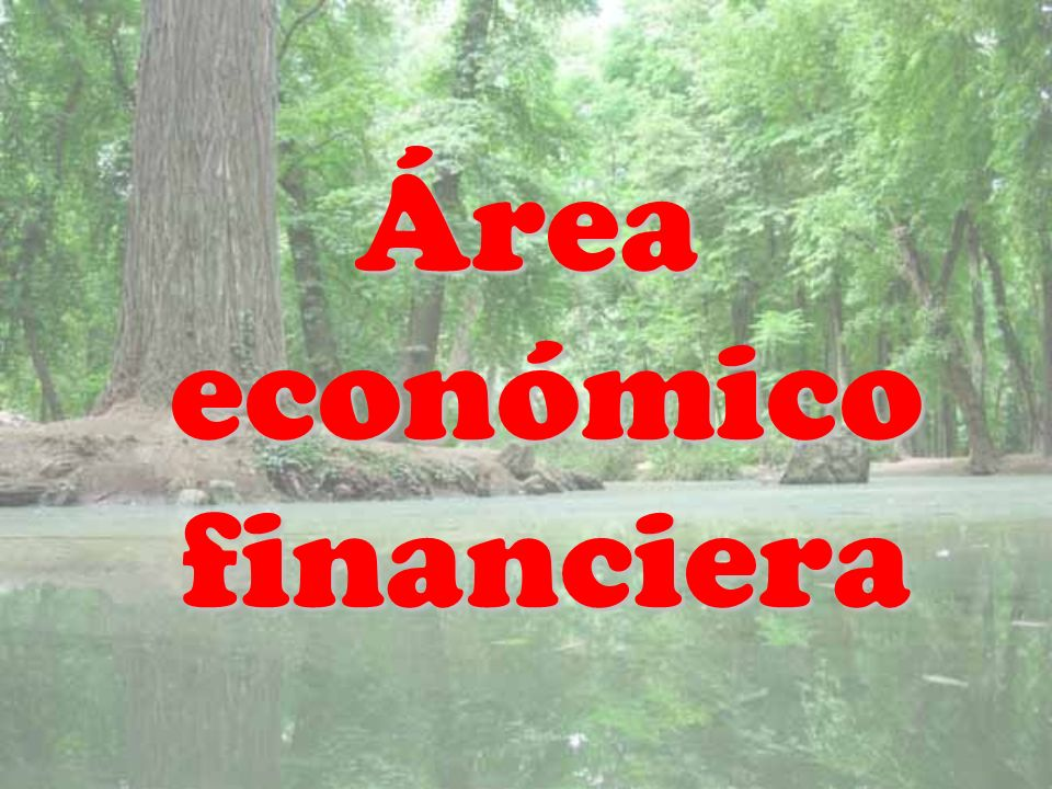 Área económico financiera