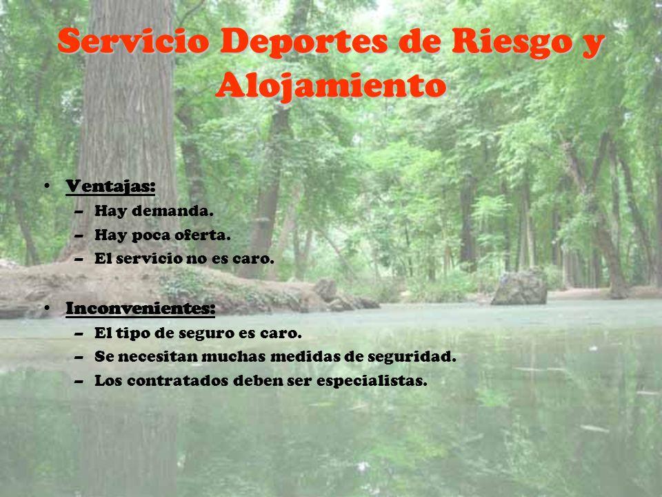 Servicio Deportes de Riesgo y Alojamiento
