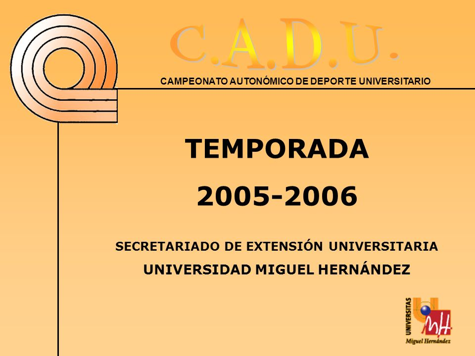 SECRETARIADO DE EXTENSIÓN UNIVERSITARIA UNIVERSIDAD MIGUEL HERNÁNDEZ
