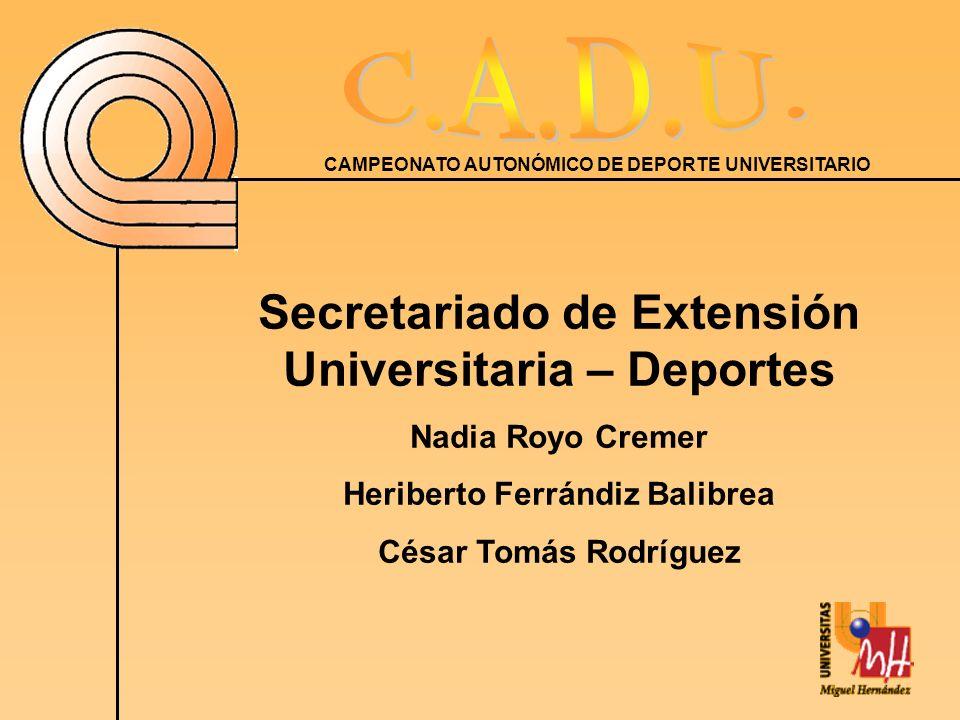 Secretariado de Extensión Universitaria – Deportes