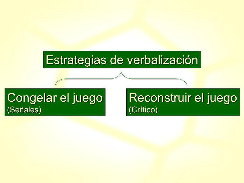Estrategias de verbalización