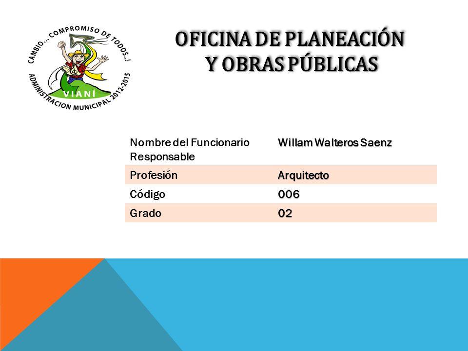 OFICINA DE PLANEACIÓN Y OBRAS PÚBLICAS