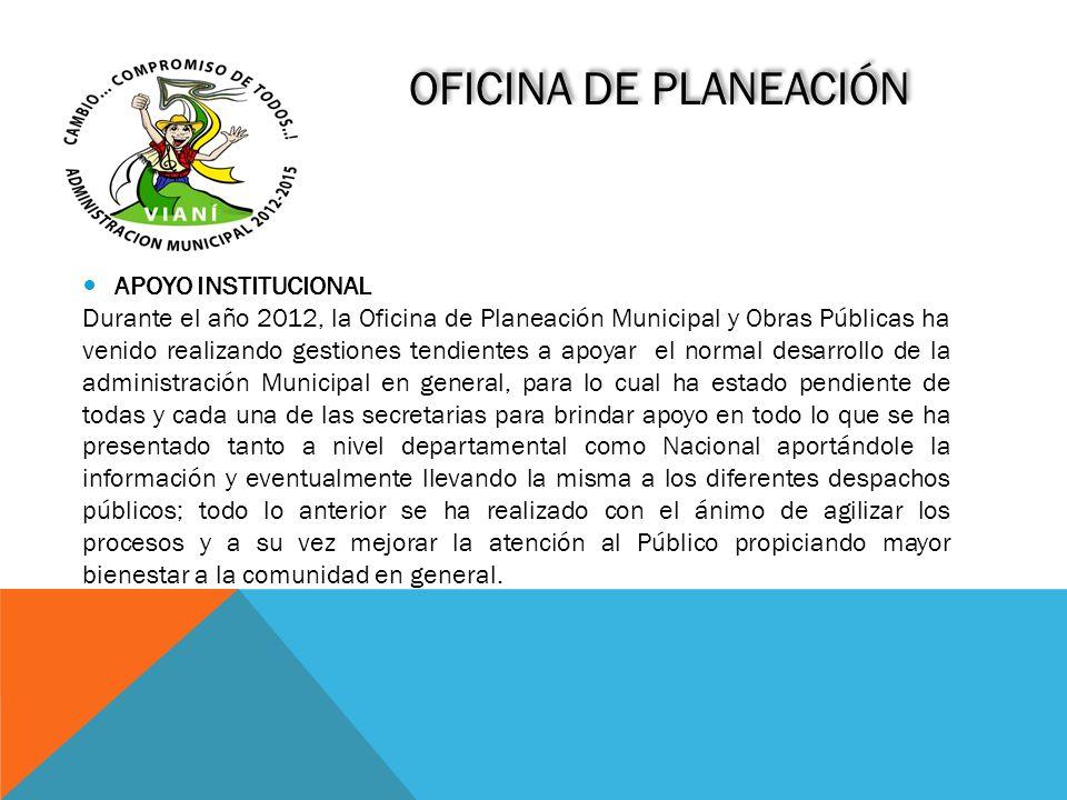 OFICINA DE PLANEACIÓN APOYO INSTITUCIONAL