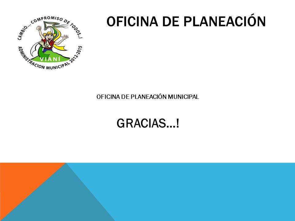 OFICINA DE PLANEACIÓN MUNICIPAL