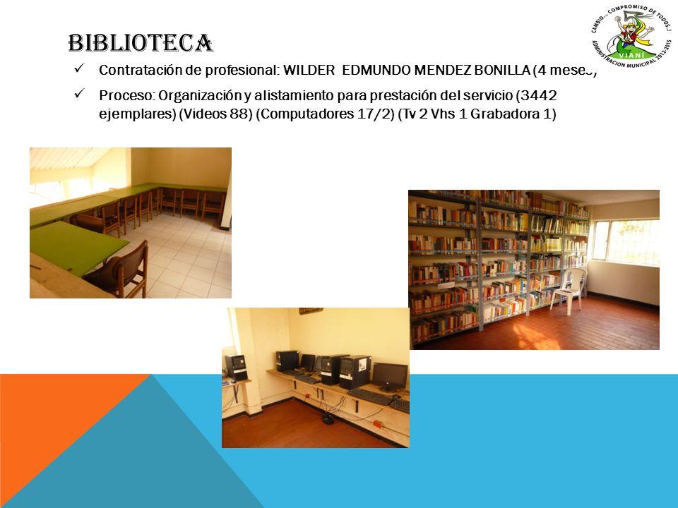 biblioteca Contratación de profesional: WILDER EDMUNDO MENDEZ BONILLA (4 meses)