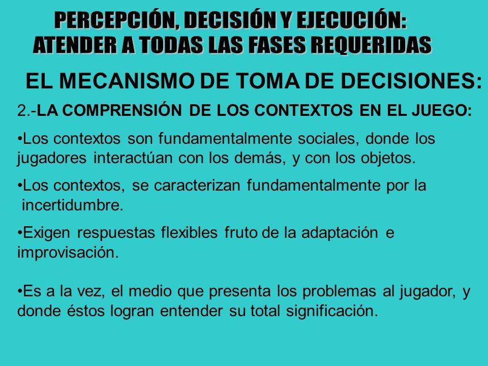 PERCEPCIÓN, DECISIÓN Y EJECUCIÓN: ATENDER A TODAS LAS FASES REQUERIDAS