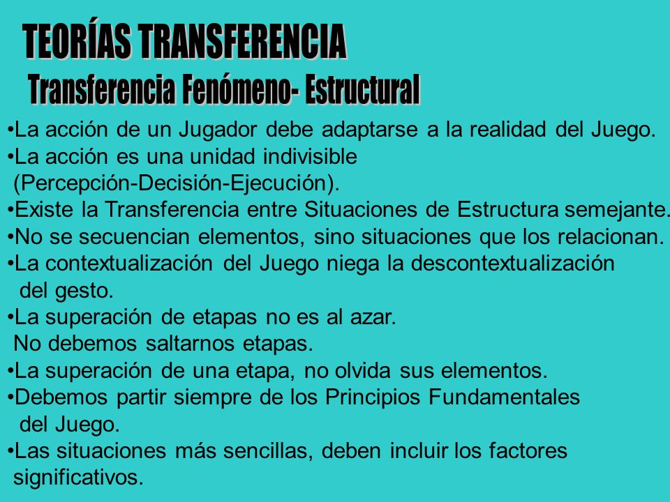 TEORÍAS TRANSFERENCIA