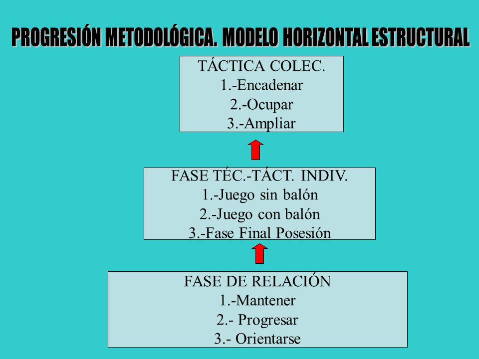 PROGRESIÓN METODOLÓGICA. MODELO HORIZONTAL ESTRUCTURAL