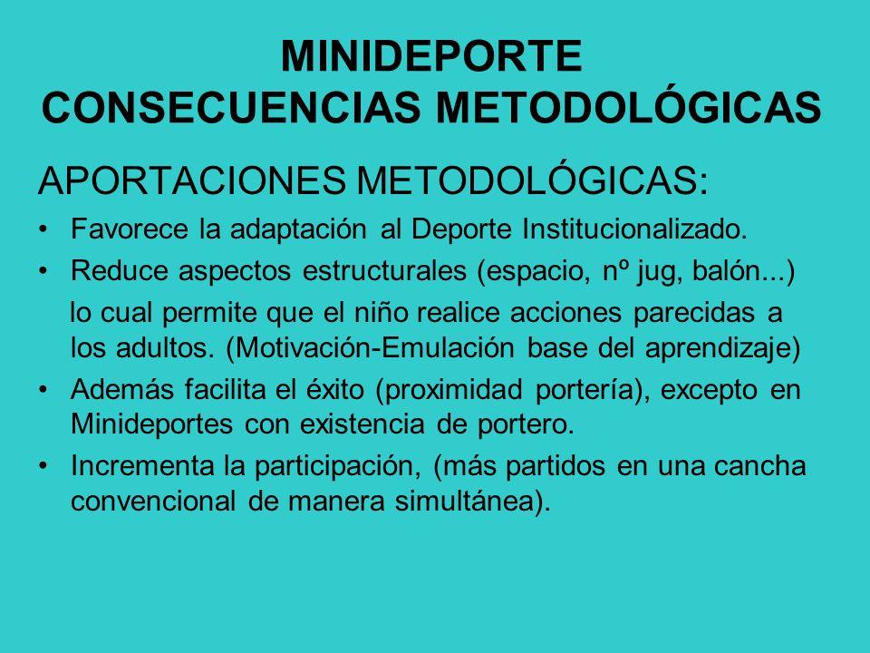 MINIDEPORTE CONSECUENCIAS METODOLÓGICAS