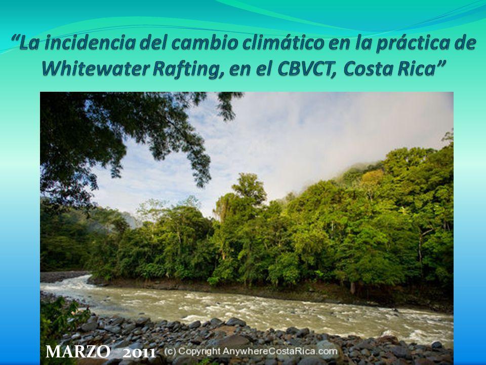 La incidencia del cambio climático en la práctica de Whitewater Rafting, en el CBVCT, Costa Rica