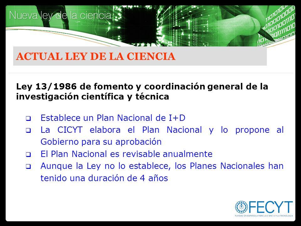 ACTUAL LEY DE LA CIENCIA
