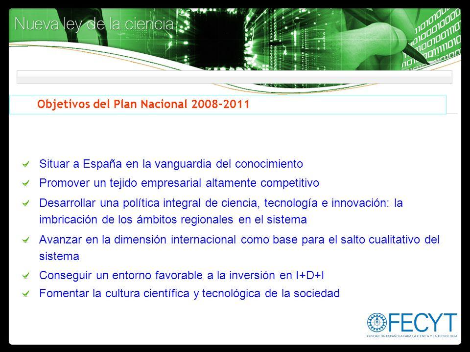 Objetivos del Plan Nacional 2008-2011
