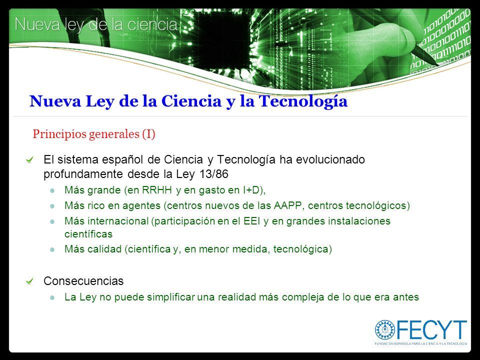 Nueva Ley de la Ciencia y la Tecnología Principios generales (I)