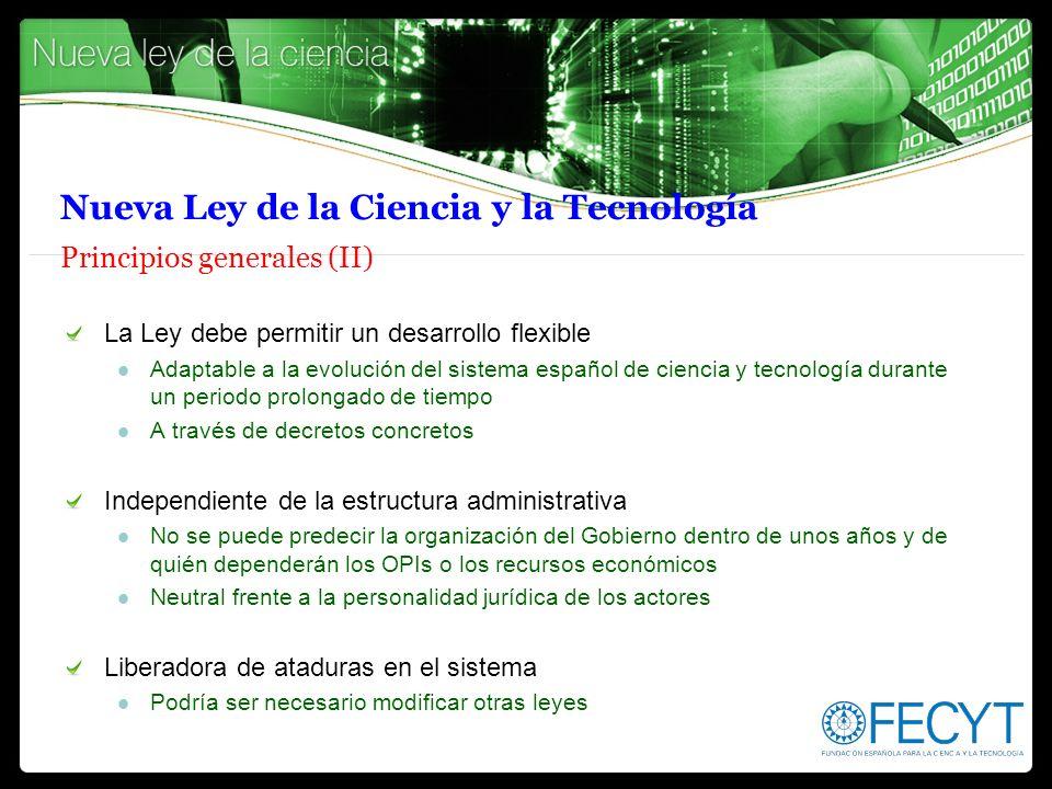 Nueva Ley de la Ciencia y la Tecnología Principios generales (II)