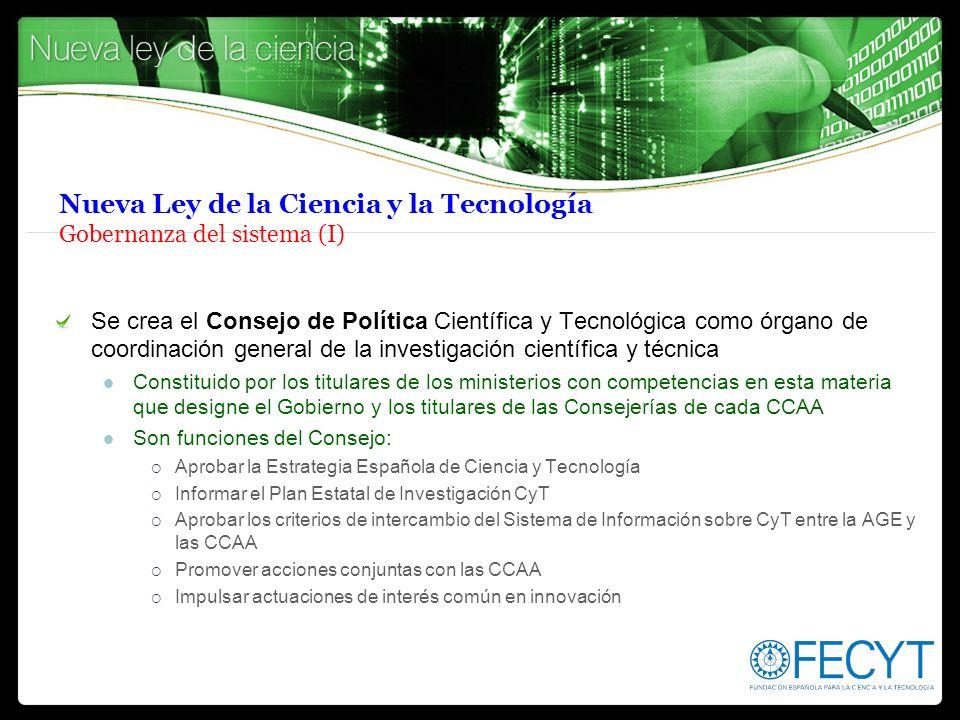 Nueva Ley de la Ciencia y la Tecnología Gobernanza del sistema (I)