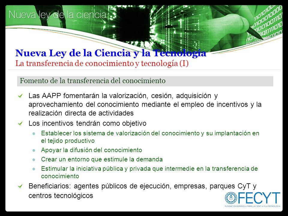 Nueva Ley de la Ciencia y la Tecnología La transferencia de conocimiento y tecnología (I)