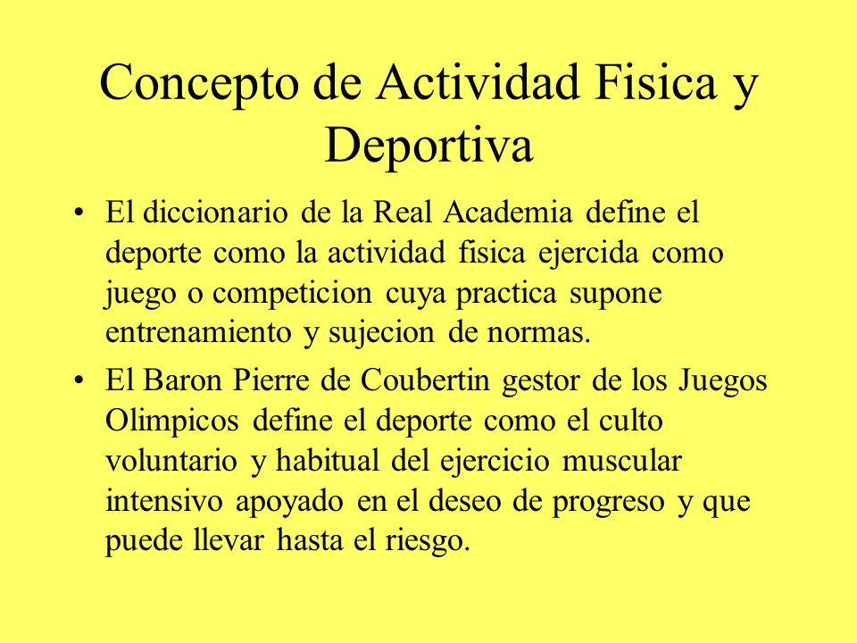 Concepto de Actividad Fisica y Deportiva