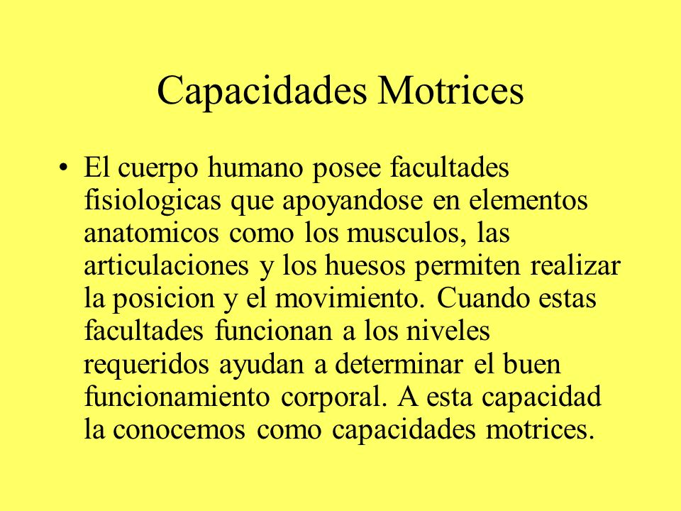 Capacidades Motrices