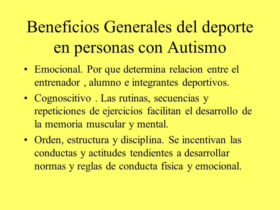 Beneficios Generales del deporte en personas con Autismo