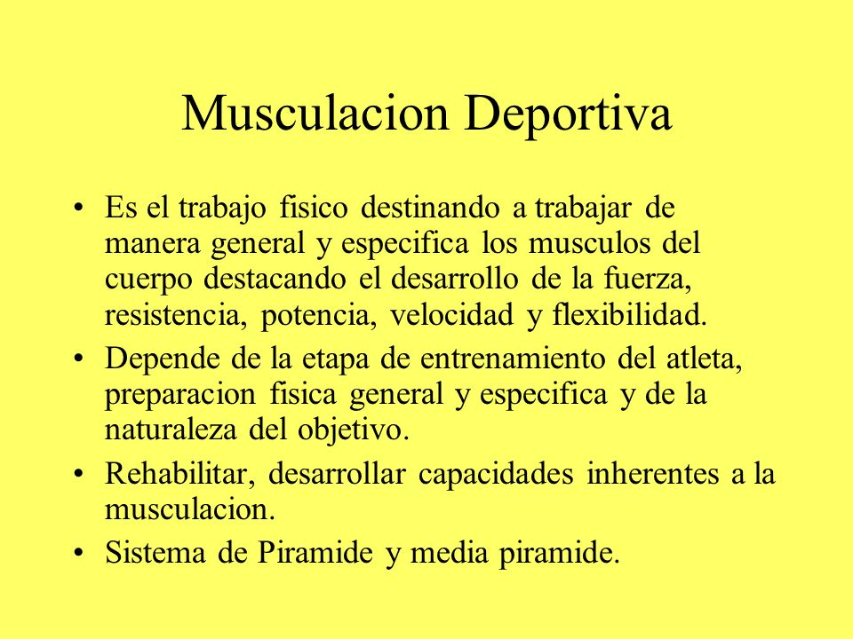 Musculacion Deportiva