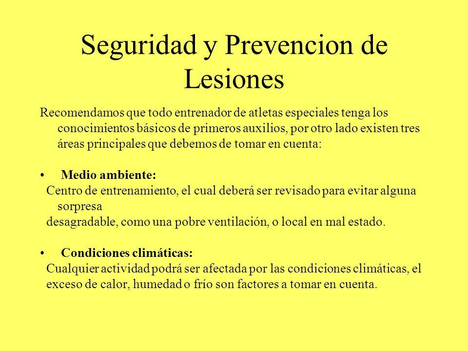 Seguridad y Prevencion de Lesiones