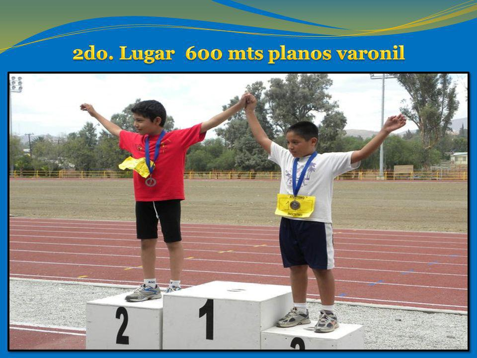 2do. Lugar 600 mts planos varonil