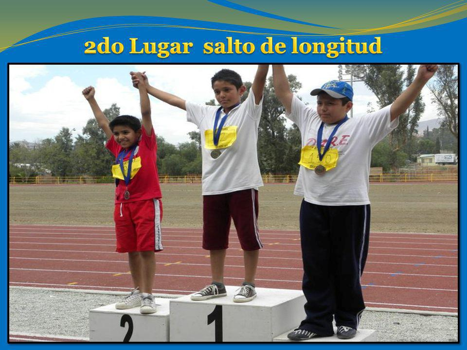 2do Lugar salto de longitud