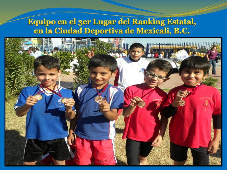 Equipo en el 3er Lugar del Ranking Estatal, en la Ciudad Deportiva de Mexicali, B.C.