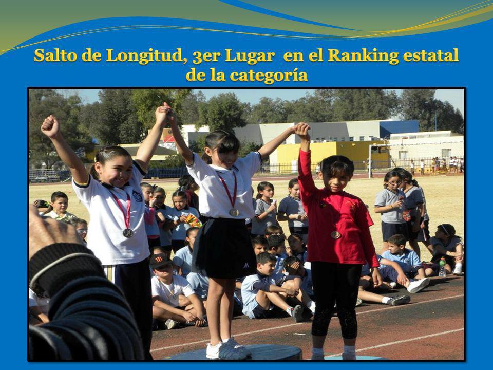 Salto de Longitud, 3er Lugar en el Ranking estatal de la categoría