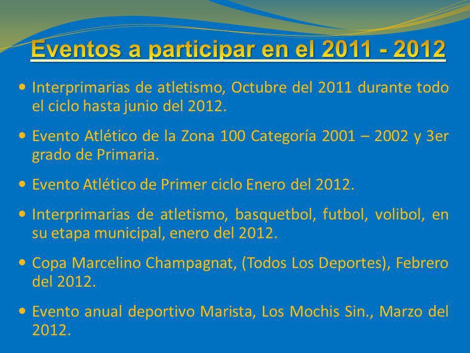 Eventos a participar en el 2011 - 2012