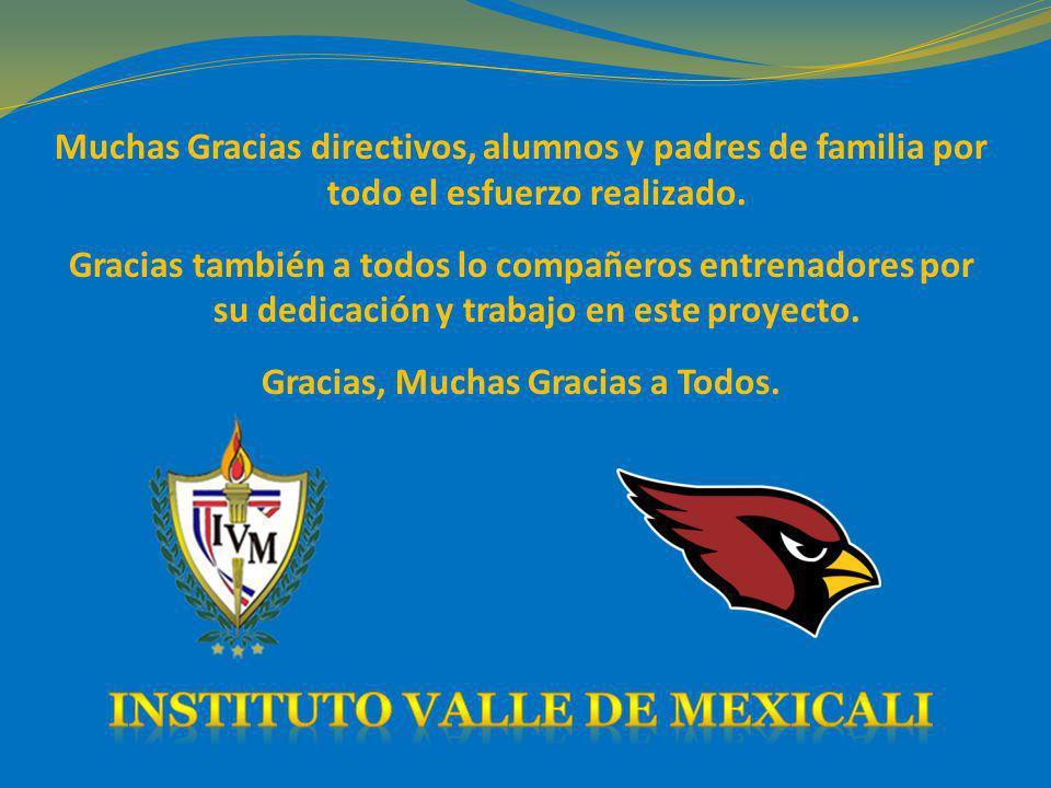 Gracias, Muchas Gracias a Todos. INSTITUTO VALLE DE MEXICALI
