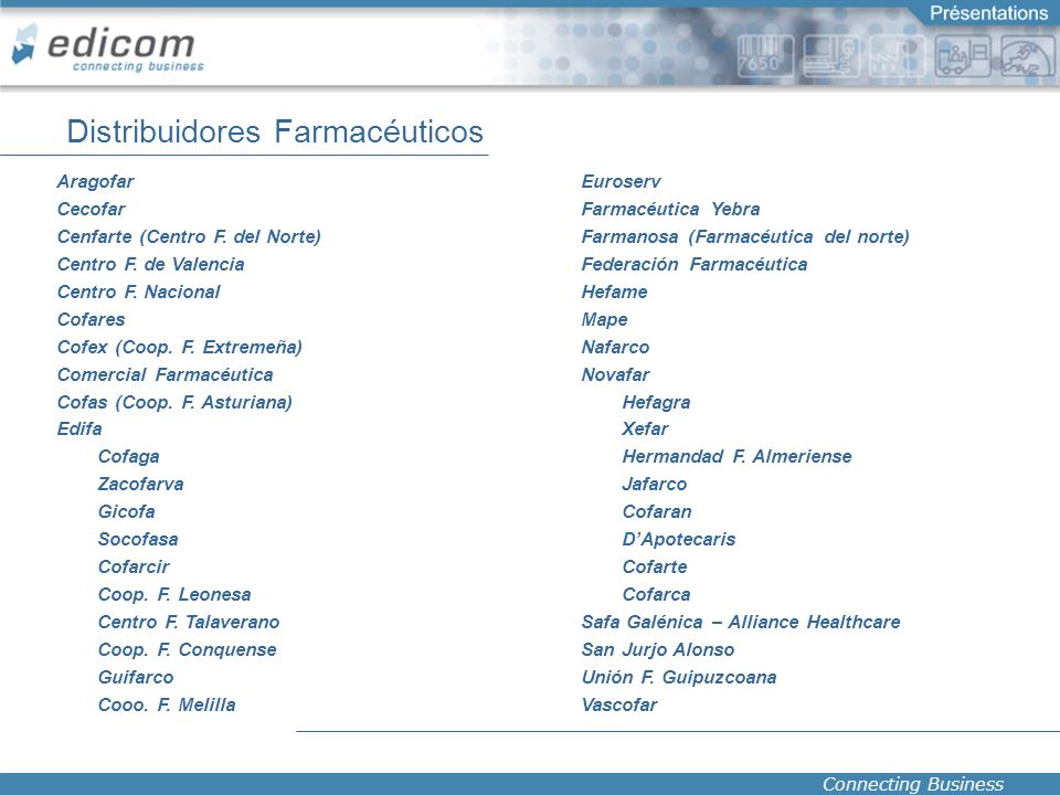 Distribuidores Farmacéuticos