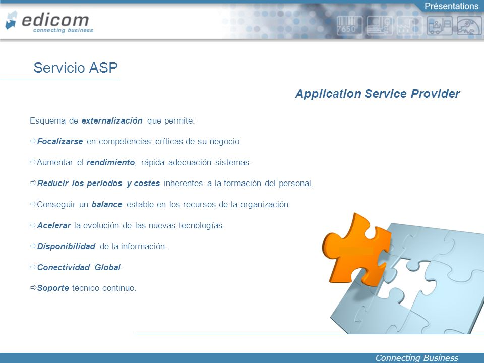 Servicio ASP Application Service Provider