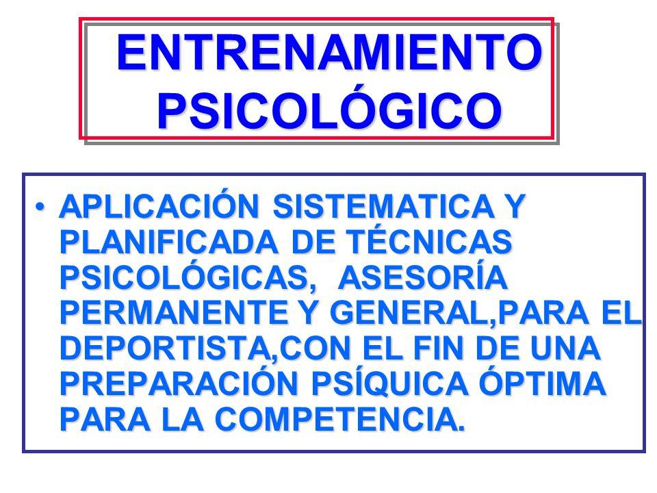 ENTRENAMIENTO PSICOLÓGICO