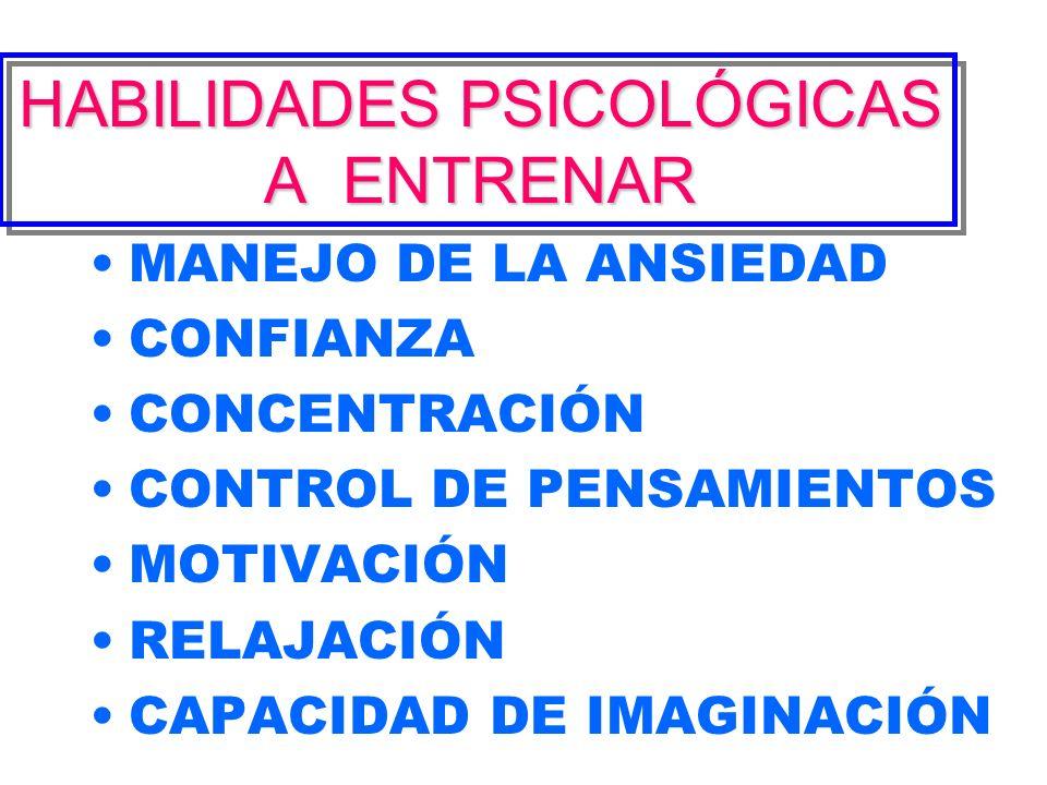 HABILIDADES PSICOLÓGICAS A ENTRENAR
